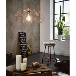 Close look to industrial style lighitng fixture CARLTON
