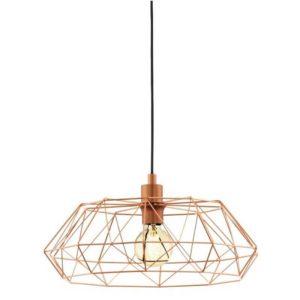 vintage golden cage style pendant light