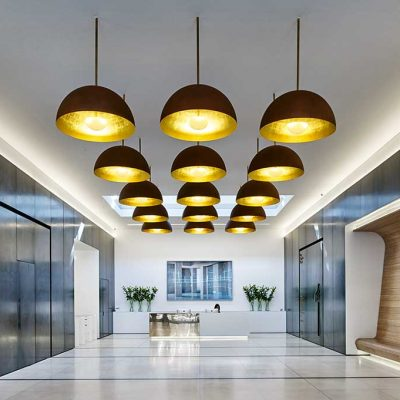 Contemporary office luminaires.