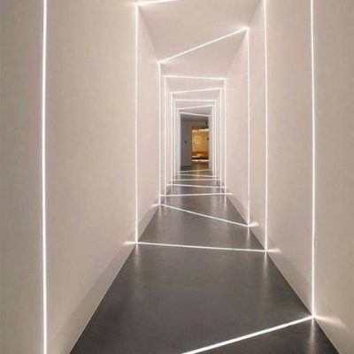 Modern LED lighting interior design.