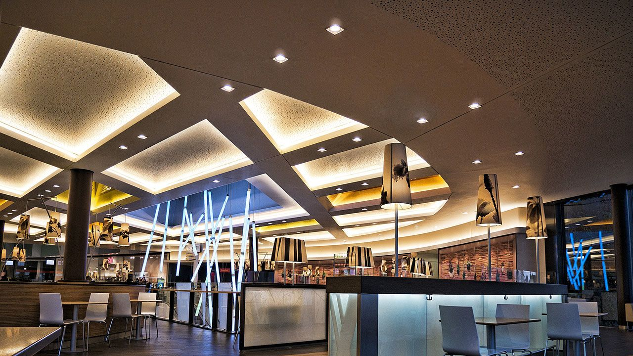 LED ceiling lighting in Dubai project