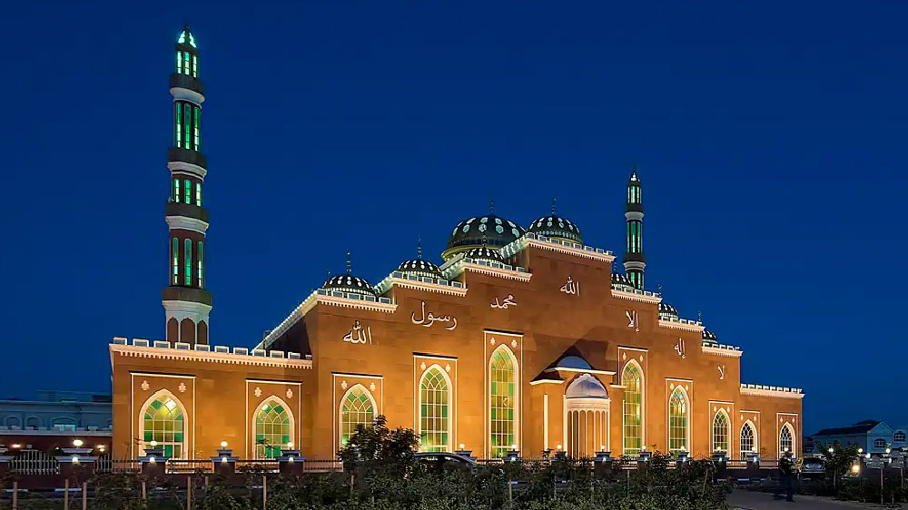 mosque al barsha illumination