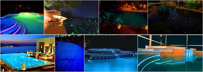 illuminated swimming pool fiber-optical designs in dubai