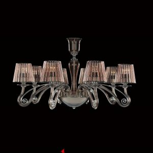 Alheli Fume classic luster for 10 lamps with glass shades is available in Dubai