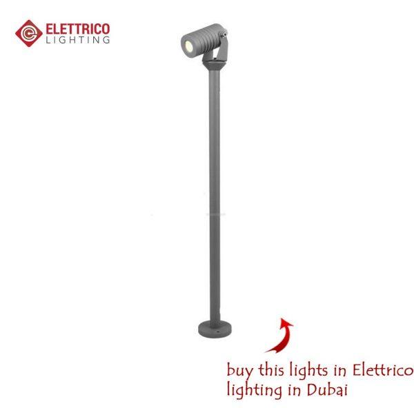 Lantern on high leg with one floodlight