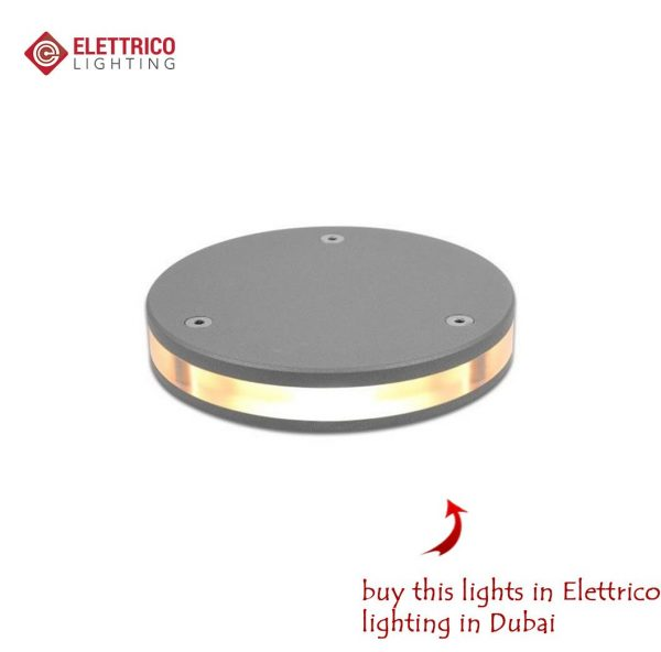 flat round luminaire for street use