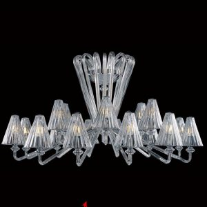 Discovery clear chandelier for a residential house