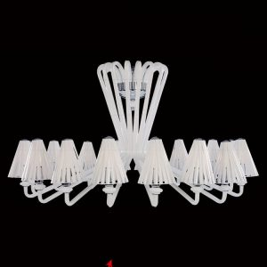 Discovery Fumo white lighting fixture for a house