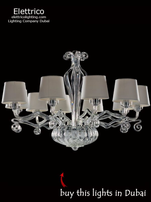 Lillium beige fixture for a living room with shade