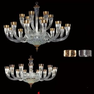 Luxor clear gold large chandelier for a living room or bedroom to order in Dubai lighnting shop