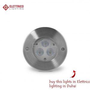 Small dark steel led spotlight