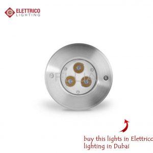 Steel luminaire with LED bulbs