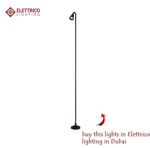 Single-lamp luminaire on a long stalk