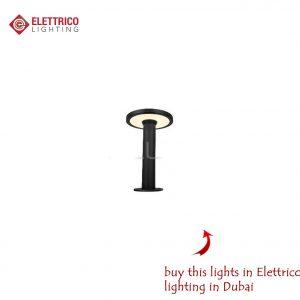 black short bollard lamp