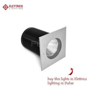 recessed illumination item with square edges