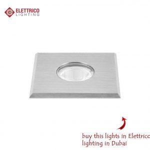 squared small metallic spotlight for a landscape