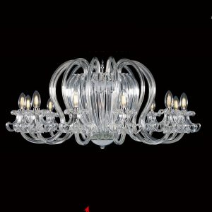 Viking clear lighting fixture with candles