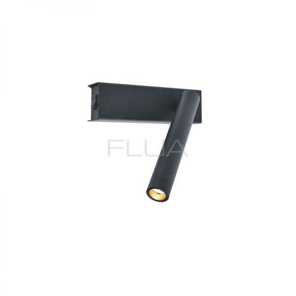 Black controllable spot lamp.