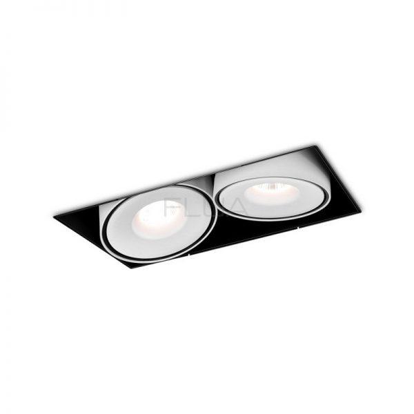 Dual round spot lighting