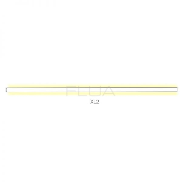 Long linear illumination for wall and ceiling mounting.