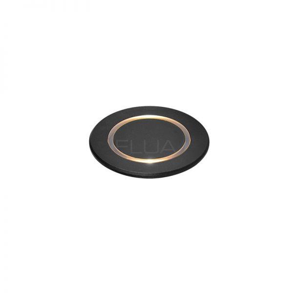 Flat black spot luminare for interior using.