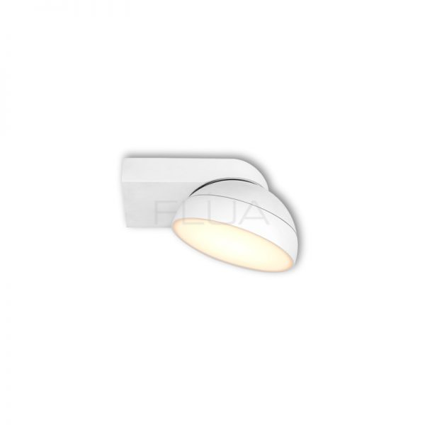 Adjustable white rounded light.