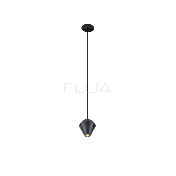 Cone-shaped elongated ceiling lampю