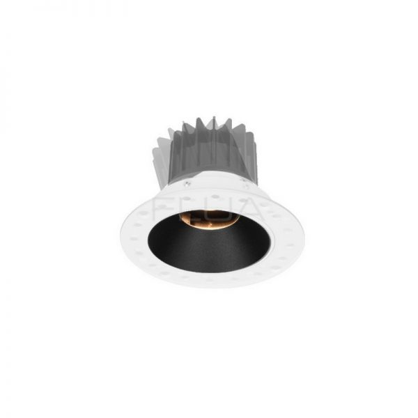 Recessed luminaire with round edging