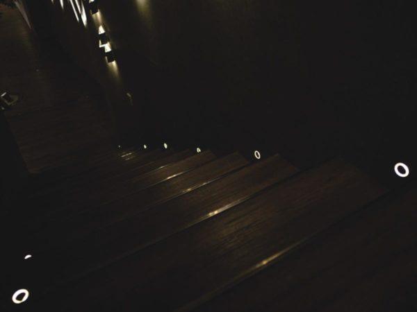 Lighting for stair steps.