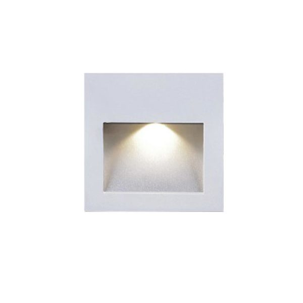 staircase wall lighting 415017A matt white finish color.