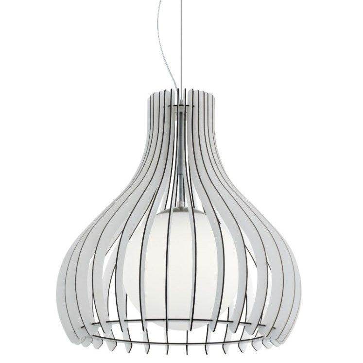 Light Fixtures Dubai: Pendant Light Made Of White Wood
