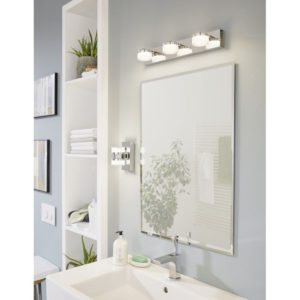 Photo of Wall Lighting ROMENDO 94651 in an bathroom Interior