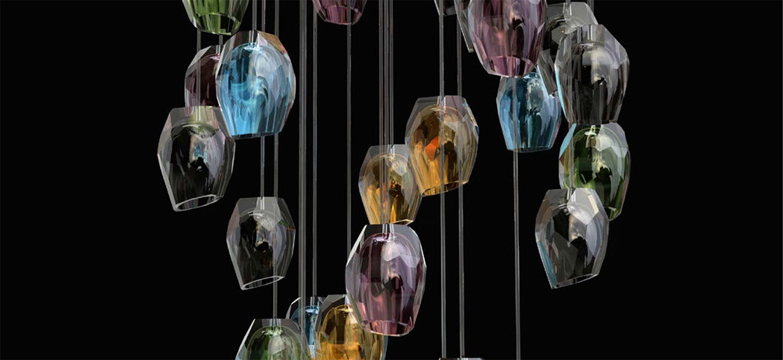 Custom pendant lighting.