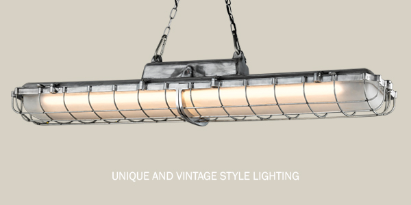 Retro factory style lighting of 2018 collection.