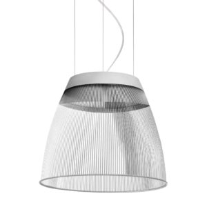 Transparent pendant light with white edge