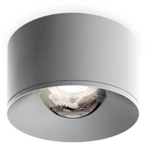 white spotlight with a convex glas