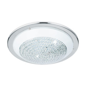 Ceiling lighting fixture with crystals