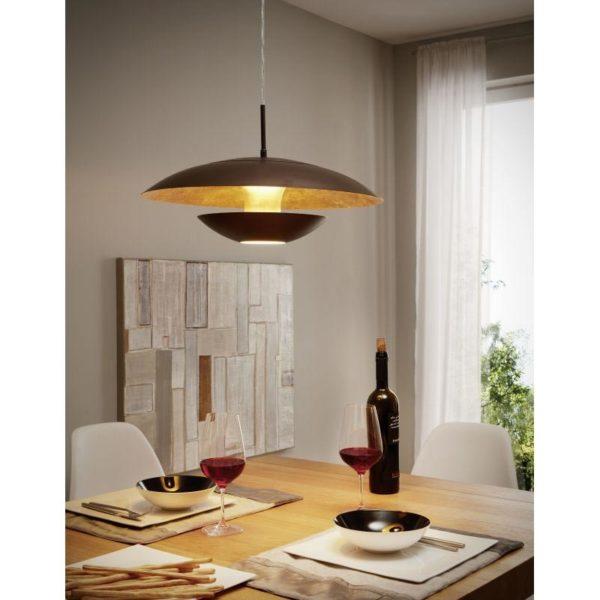 Eglo nuvano lighting is presented in an interior design