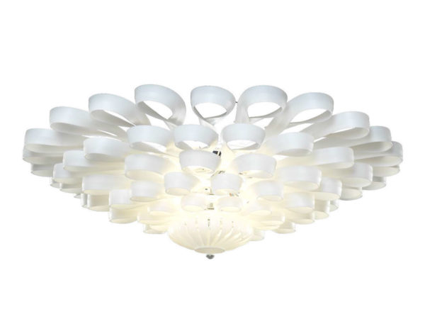 Large ceiling luster white frosted color