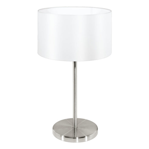 Modern table lamp with white shade