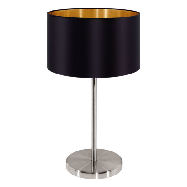 Gold table lamp with a shade