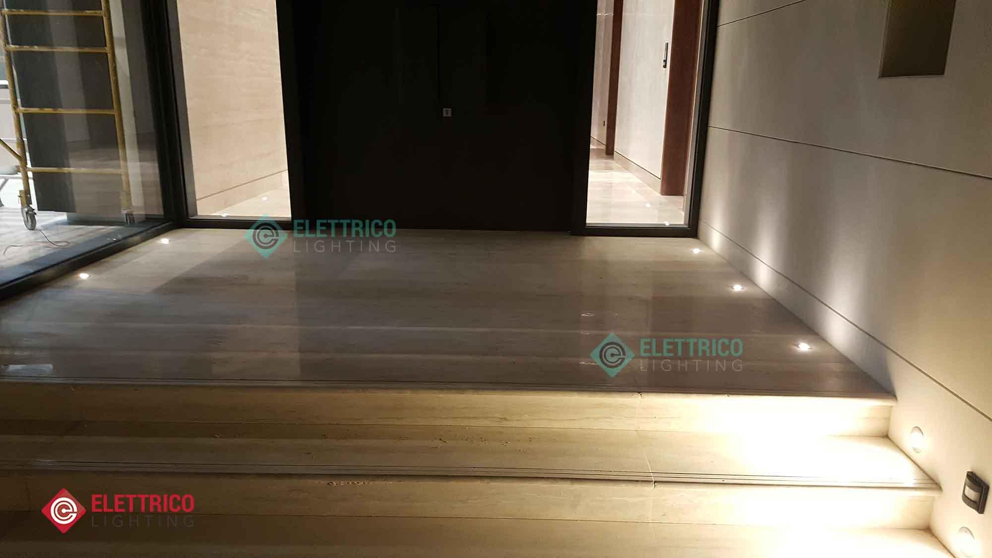 outdoor spotlights intalled in the floor