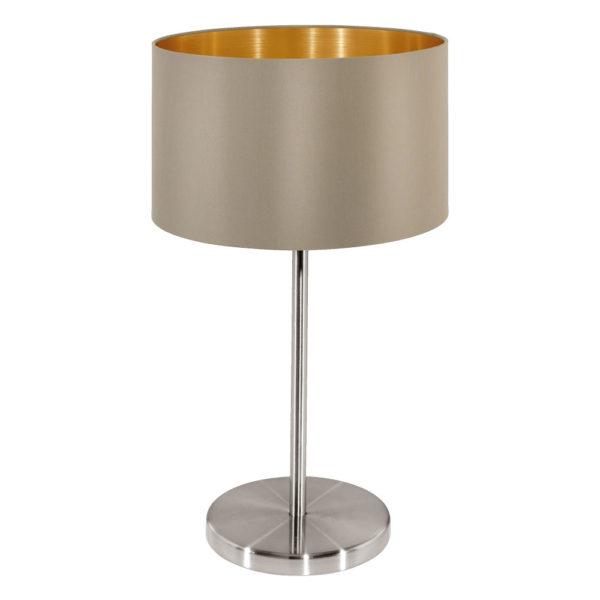 taupe table lamp maserlo brown grey