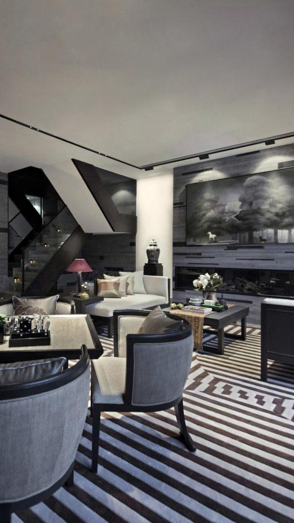 Interior design with a liner illumination