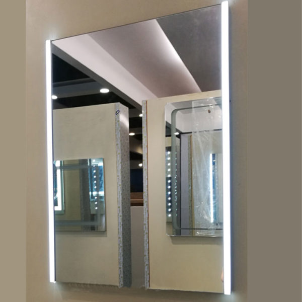 long mirror with lighting