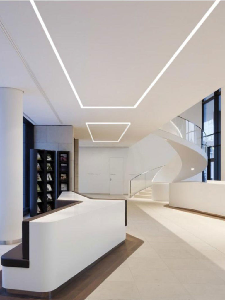 recessed linear lights