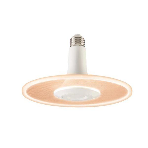 White round bulb lamp.