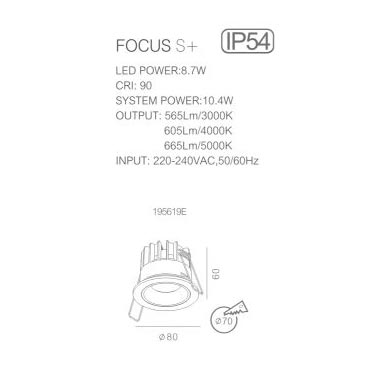 FOCUS S+ 80-60 mm Technical info