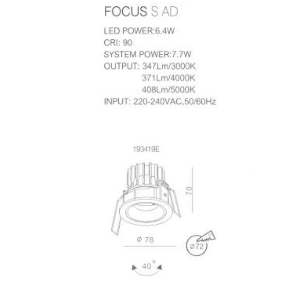 FOCUS S+ AD Technical info193419EA
