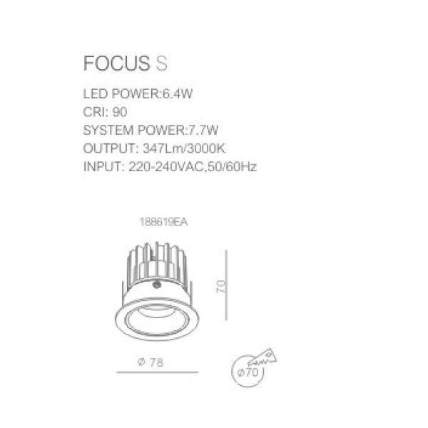 FOCUS S Technical info.